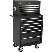"""Global™ 27"""" 7-Drawer Roller Tool Cabinet W/ Ball Bearing Slides 27"""" Top Tool Chest Combo"""