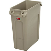 Rubbermaid® Slim Jim® 1971259 Recycling Container, 16 Gallon - Beige