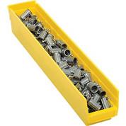 """Akro-Mils 96124YELLOGL Plastic Shelf Bin - 4-1/8""""W x 23-5/8"""" D x 4""""H Yellow"""