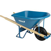 Jackson MP575T22BB 5.75 Cubic Foot Poly Contractor Wheelbarrow