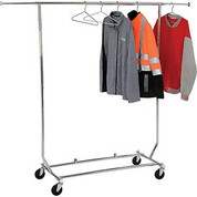 Econoco Salesman's Collapsible Portable Clothing Rack RCS/1 - Round Tubing - Chrome