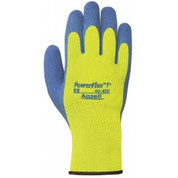 Ansell Powerflex® T Hi-Viz Yellow™ Rubber Coated Gloves, 80-400-10, 1-Pair