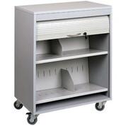 Sandusky Buddy 5424-32 Locking HIPAA Medical Cart - Platinum
