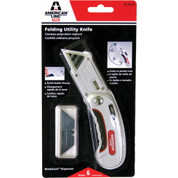 AMERICAN SAFETY RAZOR® FOLDING UTILITY KNIFE, WITH 5 BLADES 2479676