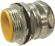 HUBBELL 283502 RACO® RAINTIGHT STEEL EMT COMPRESSION CONNECTOR, 3/4 IN. TRADE SIZE