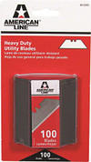 AMERICAN LINE® TWO NOTCH  UTILITY BLADES, WITH SAFETY DISPENSER, 100 BLADES PER PACK 2479681 2479681
