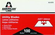 AMERICAN LINE® THREE NOTCH UTILITY BLADES, 100 BLADES PER PACK 2479679 2479679