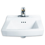 American Standard 124.131.020 0 Comrade Wall Hung Sink with 4-Inch Centerset, White