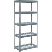 "Extra Heavy Duty Shelving 36""W x 12""D x 60""H With 5 Shelves, Wire Deck"
