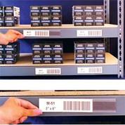 """Aigner Index Inc L-31 Adhesive Label Holders 6""""W X .75""""H (12 pcs/pkg)"""