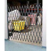 Global Industrial 600780 Single Folding Security Gate 6-1/2'W x 8'H