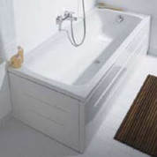 """Duravit 701039000000000 D-Code front panel for bathtubs 59"""", white,"""