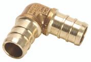 Zurn 101911 GIDDS- Brass Pex Drop Ear Elbow 3/4 In. Barb x 1/2 In. Fip Lead Free - ,