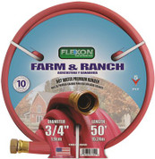 FLEXON HOT WATER RUBBER HOSE 3/4 IN. X 50 FT., RED