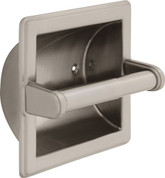 Delta Commercial: Brass Recessed Paper Holder With Brass Roller 45072-SN