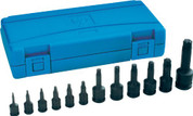 Grey Pneumatic GRE1234T (1234T) Assorted Drive 12-Piece Star Impact Driver Socket Set.