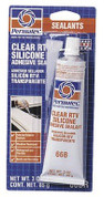 #66 Clear Silicone Adhesive Sealant, 3 Ounce Tube Carded PTX80050-CAN