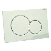 Geberit Actuator Plate Sigma01 For Dual Flush: Matte Chrome-Plated 115770465
