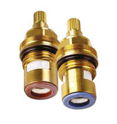 Franke FR9147 Replacement Brass ceramic cartridge faucet valves Quarter turn insert gland FITS 18 spline (PAIR hot /cold)