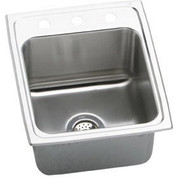 "Elkay  18 Gauge Stainless Steel 17"" x 22"" x 10.125"" Single Bowl Top Mount Kitchen Sink DLR1722103"