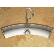 "Houzer CTC-3312 Contempo Zero Radius Undermount Curved Trough Bar/Prep Sink in Brushed Satin Size: 33"""
