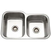 Houzer Elite Houzer Elite 60/40 double bowl, 8 IN D 20 ga Small bowl right Satin EC-3208SR-1