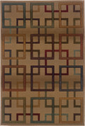 Oriental Weavers 096J Genesis Area Rug 6-Feet 7-Inch by 9-Feet 1-Inch BeigeBrown Oriental Weavers