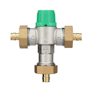 "Zurn 12-ZW1070XLPEXF1960 Wilkins Aqua-Gard 5-3/8"" x 5-1/4"" Thermostatic Mixing Valve with 1/2"" Barb 12ZW1070XLPEXF1960"