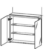 "Duravit Mirror cabinet 31 1/2"" Fogo, Am. Walnut American Walnut FO967401313"