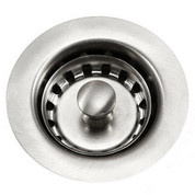 "Houzer 190-4200 Preferra S/S Junior basket strainer, Fit 2"" drain opening Stainless Steel"