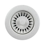 Houzer 190-9566  Speckled Granite Disposal Flange for 3.5-Inch Drain Openings, White