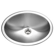 Houzer CH-1800-1 Opus Opus lavatory oval bowl, 6 IN deep 18 ga Single pack Stainless Steel