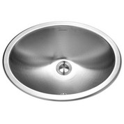 Houzer CHTO-1800-1  Opus Series Topmount Stainless Steel Oval Bowl Lavatory Sink with Overflow