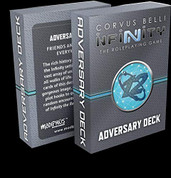 Modiphius Entertainment MUH050273 Infinity: Adversary Deck