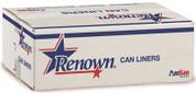 RENOWN® CAN LINER 38 X60 60GL 22 MIC BLACK 25/RL 6RL/CS REN16020-CA