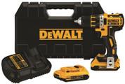 DEWALT 20 VOLT MAX XR LITHIUM ION BRUSHLESS COMPACT DRILL / DRIVER KIT 298423