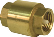 PROPLUS SPRING LOADED IN-LINE CHECK BRASS, 2 IN. FIP, LEAD FREE