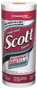 Kimberly Clark KCC41482 Scott Kitchen Paper Towels (41482) with Fast-Drying Absorbency Pockets, Perforated Standard Paper Towel Rolls, 128 Sheets / Roll, 20 Rolls / Case.