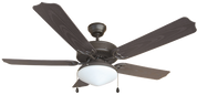 BALA® 5-BLADE DUAL-MOUNT OUTDOOR CEILING FAN WITH TEARDROP FIXTURE, OIL-RUBBED BRONZE, 52 IN. 2478511