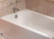 BOOTZCAST™ BATHTUB, PORCELAIN ON STEEL, LEFT-HAND OUTLET, WHITE, 5 FT. 102569