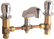 Chicago Faucets 404-VE2805-665ABCP Concealed Hot and Cold Water Metering Sink Faucet