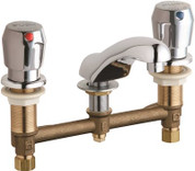 CHICAGO CONCEALED HOT AND COLD WATER METERING SINK FAUCET LEAD FREE 283750