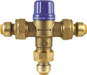 CASH ACME® HEATGUARD® 110-DLF THERMOSTATIC MIXING VALVE WITH SHARKBITE® CONNECTIONS, 1/2 IN., LEAD FREE 2466384