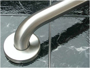 """""""WINGITS, LLC"""" 108986 WingIts STANDARD Grab Bar, Diamond Knurled Grip, Concealed Mount, Polished Knurled Stainless Steel, 42-Inch Length by 1.25-Inch Diameter"""