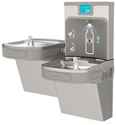 Elkay 2493076 Ezh2o Next Generation Dual-Level Drinking Fountain With Bottle Filling Station - Light Gray Granite - Light Gray Granite