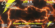 Orange Lightning XLarge Orange Nitrile Gloves BLGOR-XL