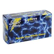 Black Lightning Large Black Nitrile Gloves BLGBL-L
