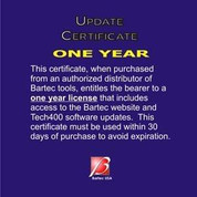 1 Yr Software Certificate for the Tech400 series BATWRT400SUL1