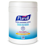 GOJO INDUSTRIES 131757 PURELL Hand Sanitizing Wipes, Fresh Citrus Scent, 270 Count Alcohol-free formula Sanitizing Wipes in Eco-Fit Canister (Case of 6) -