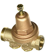 """Zurn Wilkins Model 34-600XL 3/4"""" Water Pressure Reducing Brass Valve with Integral By-pass Check Valve and Strainer, FNPT Union x FNPT, Lead Free"""